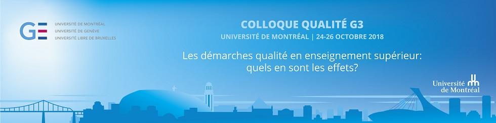 Colloque Qualité G3 - 3e édition